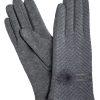 Camalya Women's Chic Fine Knit Winter Gloves, Grey