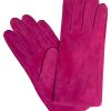 Dents Womens Suede Gloves, Cerise