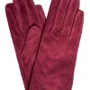 Dents Womens Suede Gloves, Claret