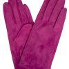 Dents Womens Suede Gloves, Hot Pink