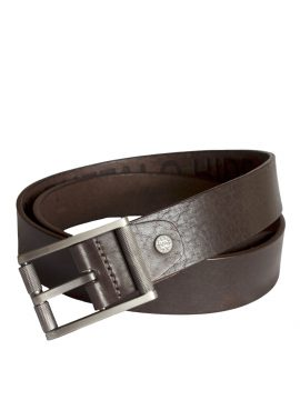 Stones Men's Leather Belt (B3), Brown