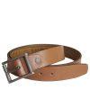 Stones Men's Leather Belt (B3), Tan