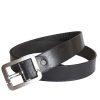 Stones Men's Leather Belt (Buckle B7), black