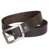 Stones Men's Leather Belt (Buckle B7), brown