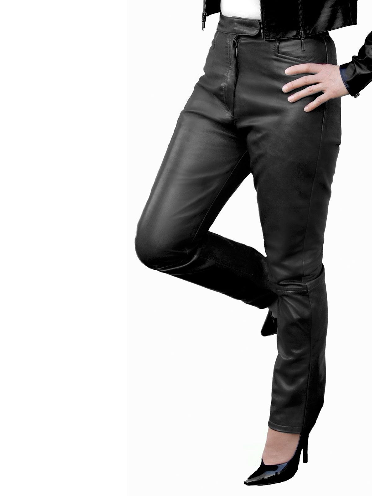 Black Leather Fashion Gloves