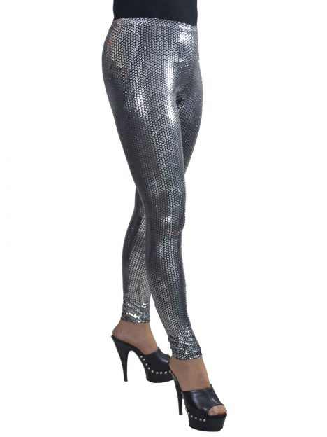 Silver Sequin Leggings