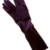 Dents Long Velvet Gloves, amethyst