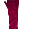 Dents Long Velvet Gloves, Claret