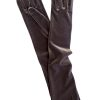 Dents Long Velvet Gloves, Slate Grey