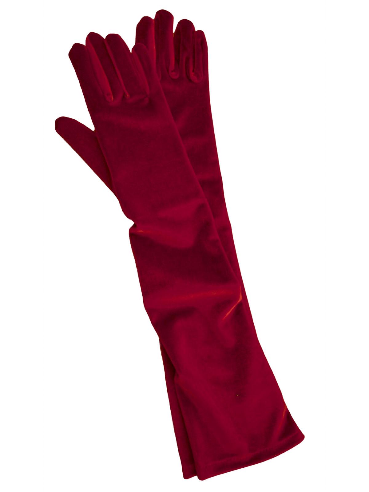 d011dd4939af ... Dents Long Velvet Gloves, Berry Red ...