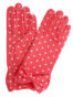 Dents Short Polka Dot Dress Gloves, salmon pink