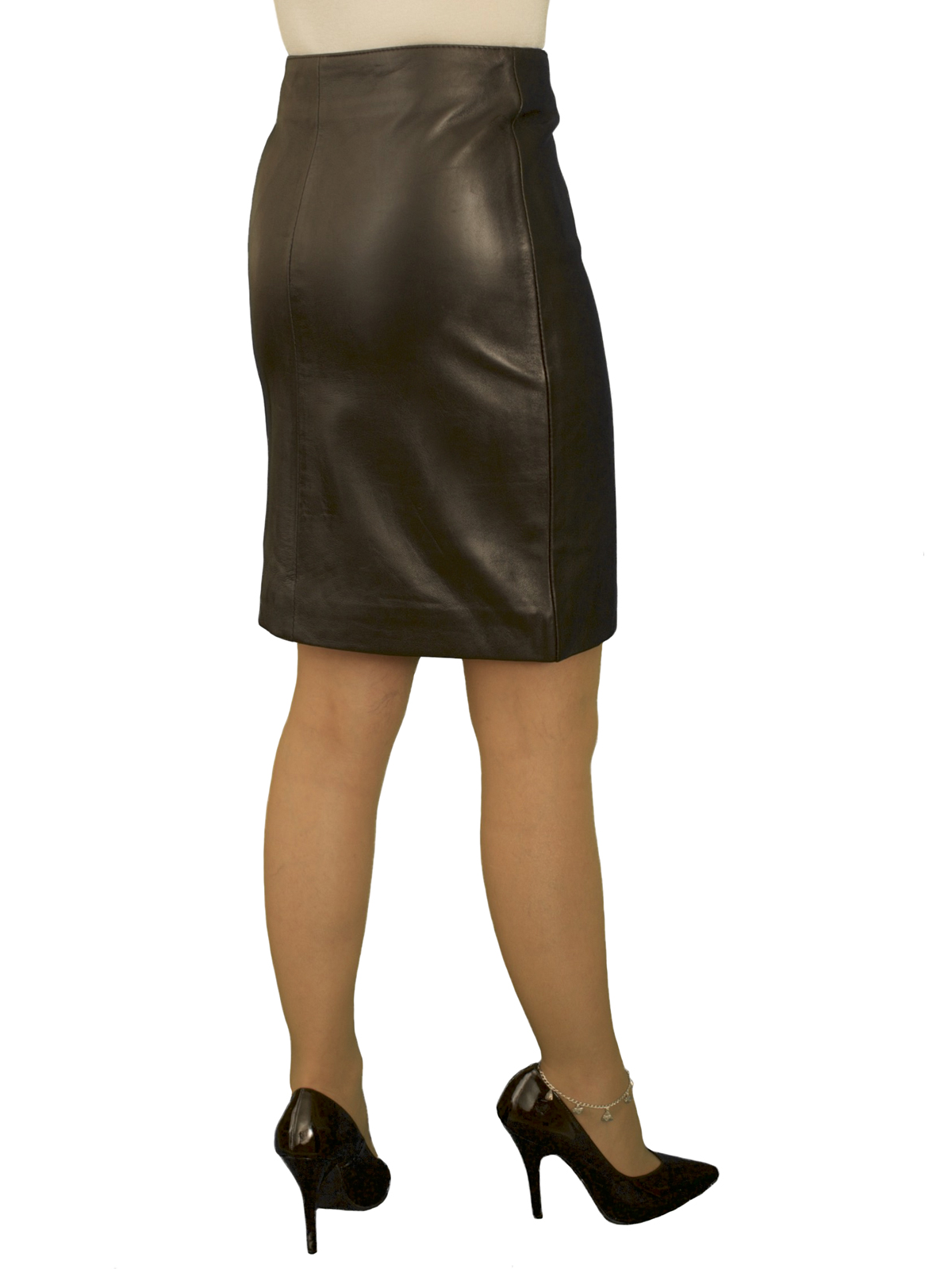 b04a6fe7fba5 Black Luxury Leather Pencil Skirt