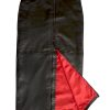 Black Leather Maxi Skirt with full rear zip, luxury soft