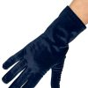 Dents Short Vintage Velvet Gloves, Navy