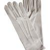 Dents Dove Grey Short Matt Satin Dress Gloves