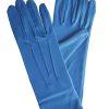 Dents Royal Blue Short Matt Satin Dress Gloves