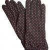 Dents Short Cotton Vintage Spot Dress Gloves, Black/Pink