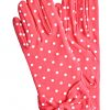 Dents Dark Pink Short Cotton Spot Dress Gloves
