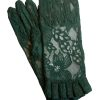 Dents Forest Lace Dress Gloves with Ruffle Cuff