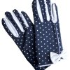 Dents Navy Vintage White Polka Dot Dress Gloves